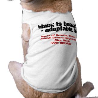 Adopt Black Dogs & Black Cats Sleeveless Dog Shirt