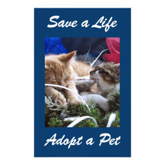 Adopt Cat Dog Animal, Rescue a Pet, Save a Life 14 Cm X 21.5 Cm Flyer