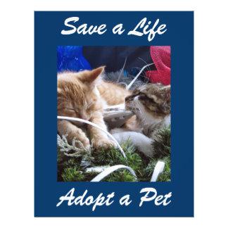 Adopt Cat Dog Animal, Rescue a Pet, Save a Life 21.5 Cm X 28 Cm Flyer