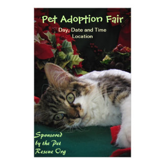 Adopt Cat Dog Animal, Rescue a Pet, Save a Life Custom Flyer