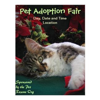 Adopt Cat Dog Animal, Rescue a Pet, Save a Life Flyer Design