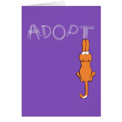 Adopt Cats Rusty™ Pet Adoption Card