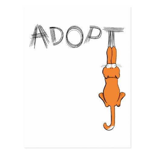 Adopt Cats Rusty™ Pet Adoption Postcard