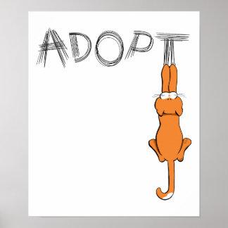 Adopt Cats Rusty™ Pet Adoption Poster