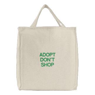 ADOPT DON'T SHOP BAG BAGS