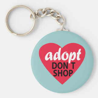 Adopt Dont Shop Basic Round Button Key Ring