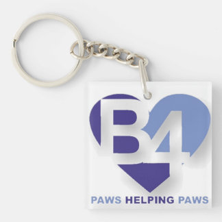 Adopt Don't Shop Double-Sided Square Acrylic Key Ring