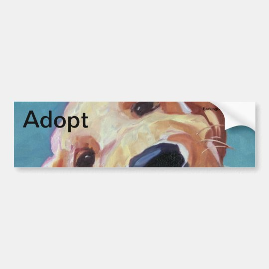 Adopt don't Shop Pet Portrait Bumper Sticker