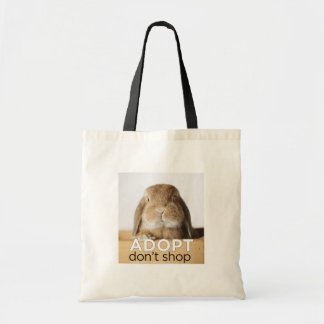 ADOPT DONT SHOP TOTE BUDGET TOTE BAG