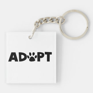 Adopt Double-Sided Square Acrylic Key Ring