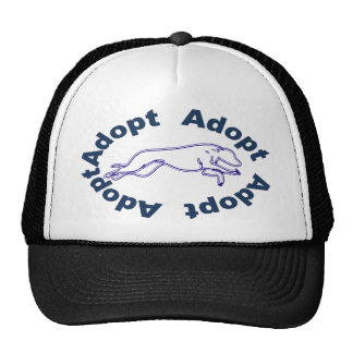 Adopt in Blue Mesh Hats