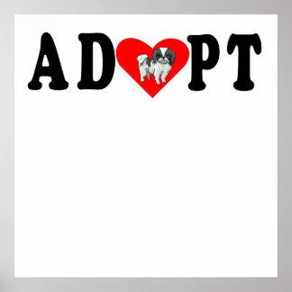 Adopt Japanese Chin Poster
