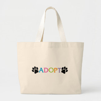 Adopt Large Tote Bag