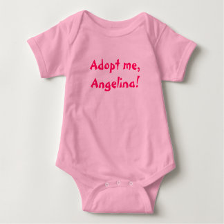 Adopt me, Angelina! Baby Bodysuit
