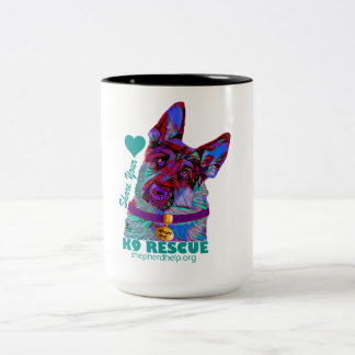 Adopt Me K9 Shepherd Help and Rescue Effort Inc. Two-Tone Coffee Mug