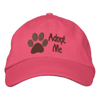 Adopt Me PawPrint Animal Adoption Embroidered Cap