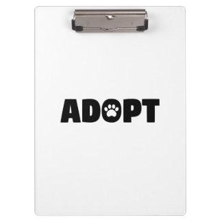 Adopt Paw Print Clipboard