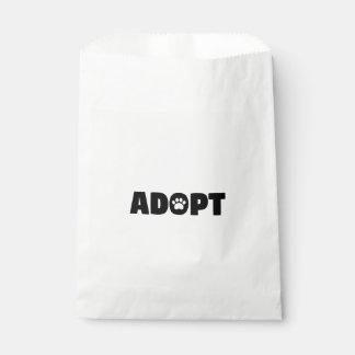 Adopt Paw Print Favor Bag