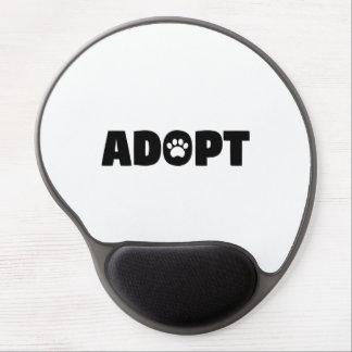 Adopt Paw Print Gel Mouse Pad