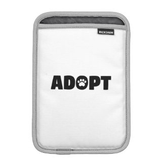 Adopt Paw Print iPad Mini Sleeve