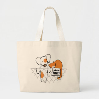 Adopt Pets Patch & Rusty™ Large Tote Bag