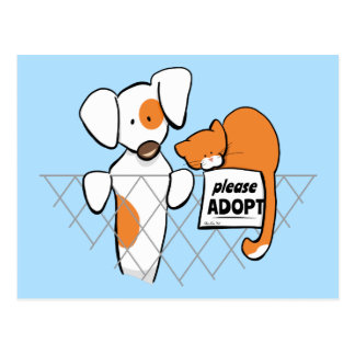 Adopt Pets Patch & Rusty™ Postcard