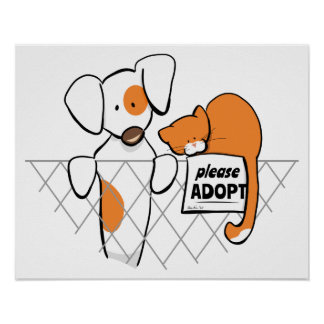 Adopt Pets Patch & Rusty™ Poster