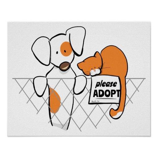 Adopt Pets Patch & Rusty™ Print