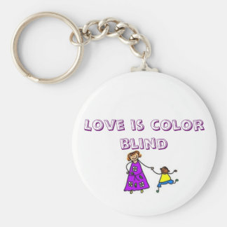 adopt pics 2, Love is color blind Basic Round Button Key Ring