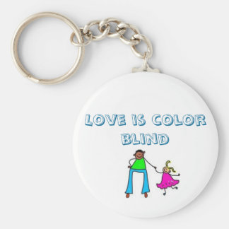 adopt pics, Love is color blind Basic Round Button Key Ring
