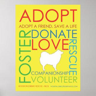 Adopt Poster Yellow