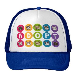 Adopt Rainbow Frenchie Mesh Hat