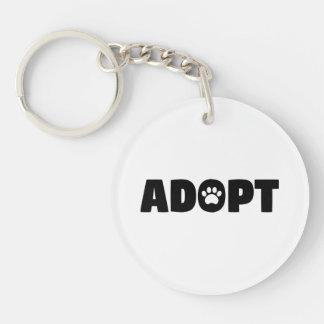 Adopt Rescue Dog Acrylic Keychain