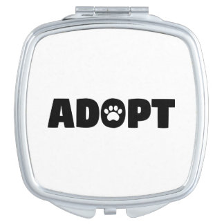 Adopt Rescue Dog Compact Mirror