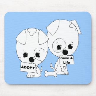 Adopt Save A Life Pups Mouse Pads