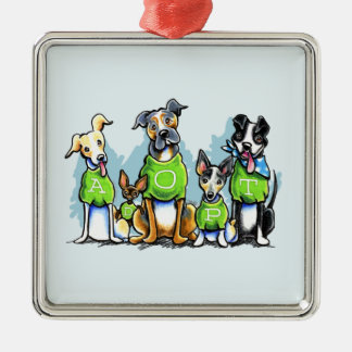 Adopt Shelter Dogs Green Tees Think Adoption Christmas Ornament