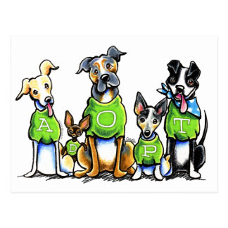 Adopt Shelter Dogs Green Tees Think Adoption Postcard