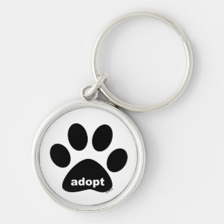 Adopt Silver-Colored Round Key Ring