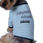 Adopted & Adored Pet T-shirt