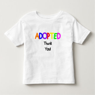 Adopted Black Thank You Toddler T-Shirt