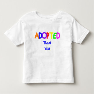 Adopted Blue Thank You Tees