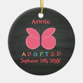 Adopted Butterfly Adoption - Custom Name Christmas Ornament