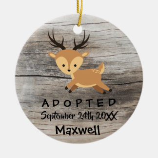 Adopted - Customized Deer Adoption Gift Christmas Ornament