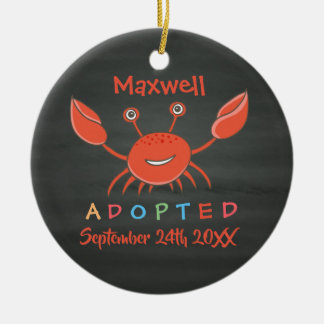 Adopted from Foster Care Crab - Custom Name Christmas Ornament