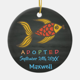 Adopted from Foster Care Fish - Custom Name Christmas Ornament