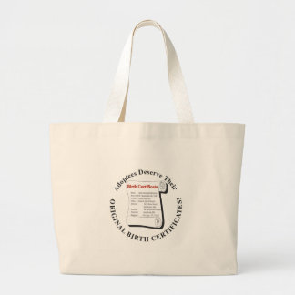 Adoptees Deserve OBCs Jumbo Tote Bag
