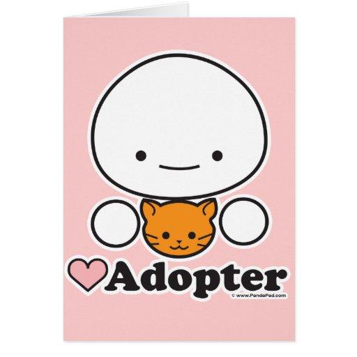 Adopter (cat) Card