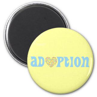 adoption 6 cm round magnet