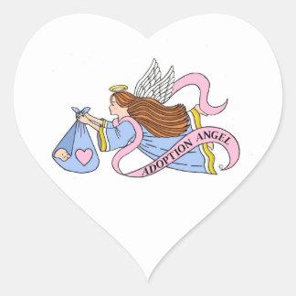 Adoption Angel Heart Stickers
