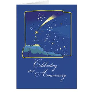 Adoption Anniversary with Stars and Night Sky Card